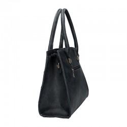 sac à main en simili cuir de couleur bleu marine pas cher