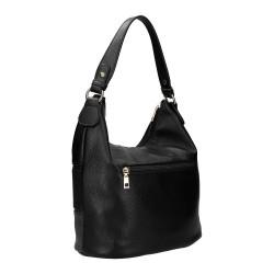 dos du sac à main noir forme hobo