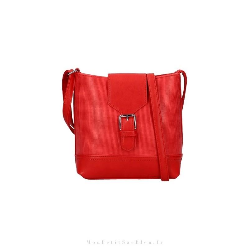 sac bandoulière rouge femme