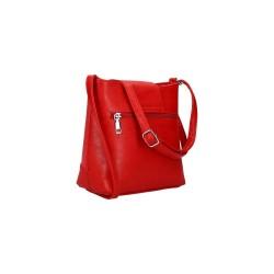 sac bandoulière rouge imitation cuir