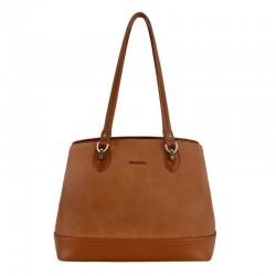 sac à main style cabas de couleur marron pour femme