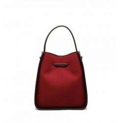 sac bandoulière rouge en velours