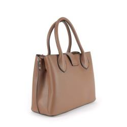sac à main simili cuir marron