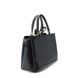 sac porté main en cuir synthétique noir