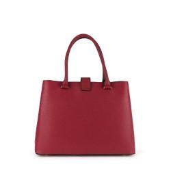 dos du sac à main rouge