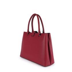 Détail du sac à main rouge porté-main pour femme