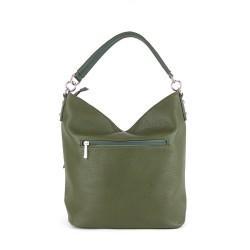 dos du sac à main vert