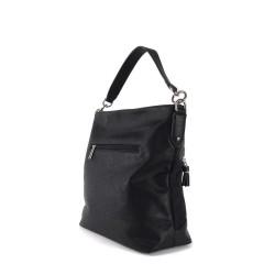 sac à main en simili cuir noir