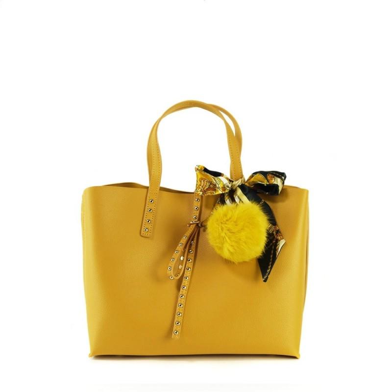 sac à main femme jaune moutarde