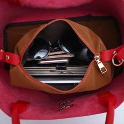 intérieur du sac à main rouge - 2 pièces