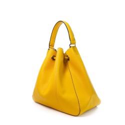 sac seau jaune et sa pochette intérieure