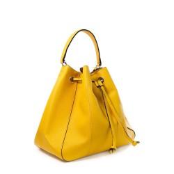 joli sac à main jaune forme seau pour femme
