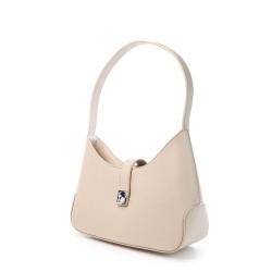 sac à main porté épaule beige