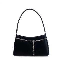 sac à main porté épaule de couleur noir