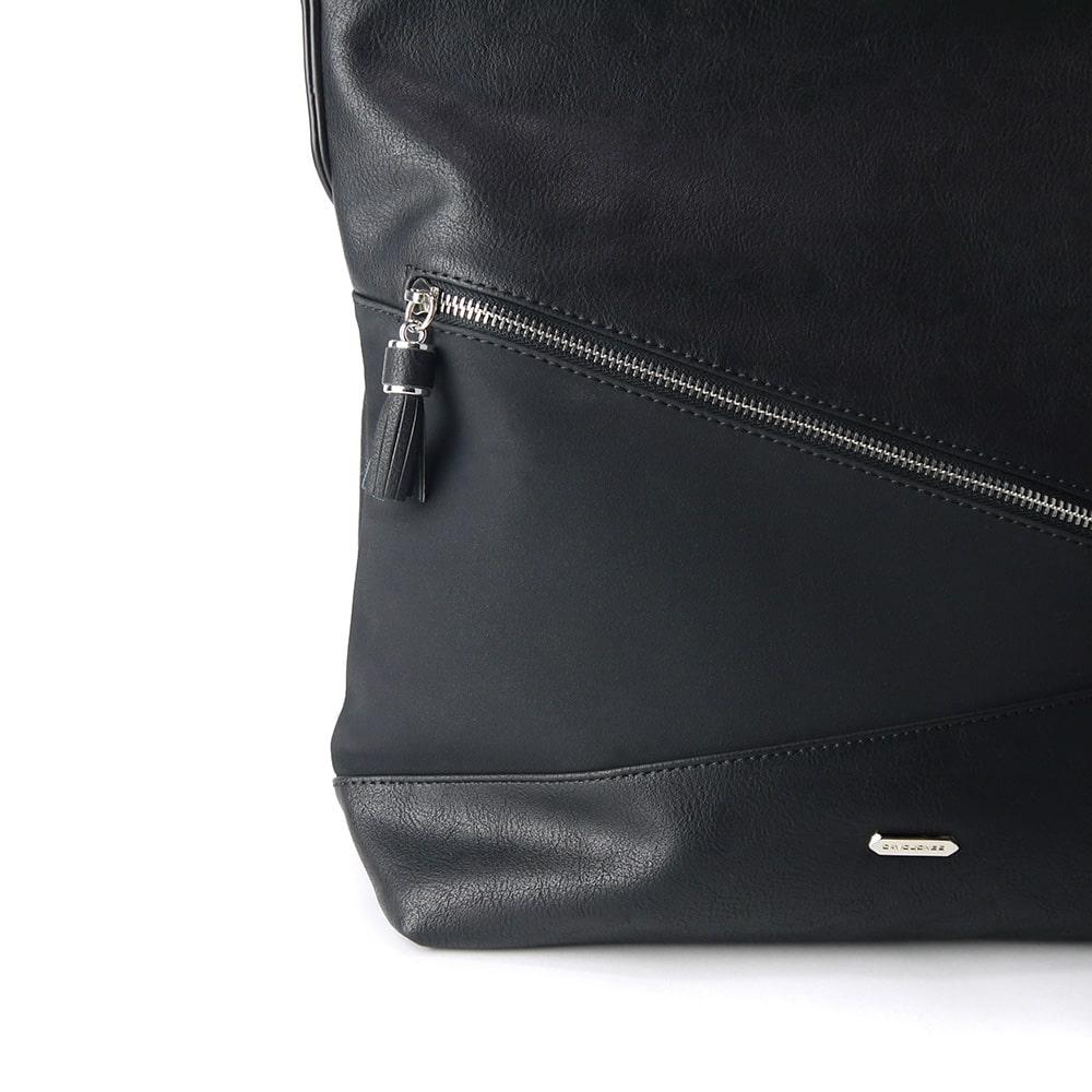 Detail du sac à main noir